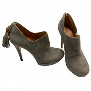 Gucci Betty Suede Bamboo Tassel Ankle Booties 7